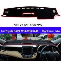 TAIJS RHD 자동차 대시 보드 커버 대시 매트 For Toyota RAV4 2013 2014 2015 2016 2017 2018 XA40 자동 미끄럼 방지 Sun Shade DashMat Pad