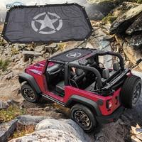 Black Sunshade Mesh Top Cover Durable Off Road Roof Eclipse UV Protection Star Styling for Jeep Wrangler JK 2 Door 4 Door
