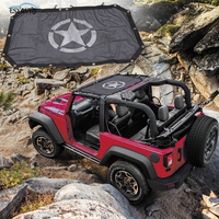 Black Sunshade Mesh Top Cover Durable Off Road Roof Eclipse UV Protection Star Styling for Jeep Wrangler JK 2 Door 4 Door