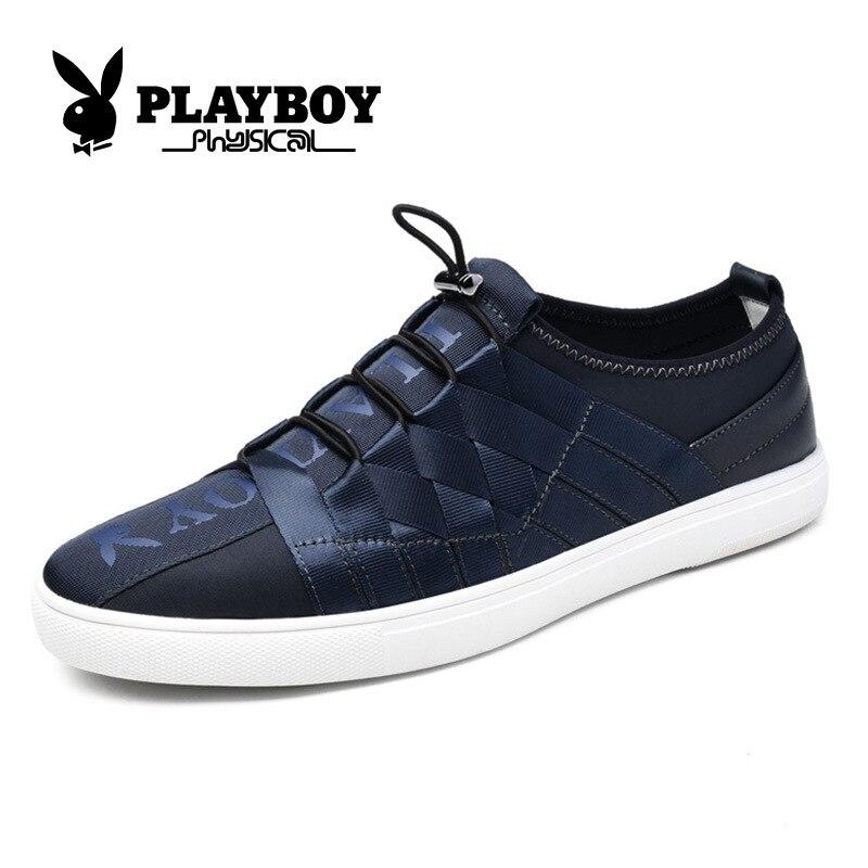 deep Sport Blue Spandex De Slip Cx39055 Toile Playboy Tissage ardoisé on Hommes Tendance Chaussures Noir Stqwq47