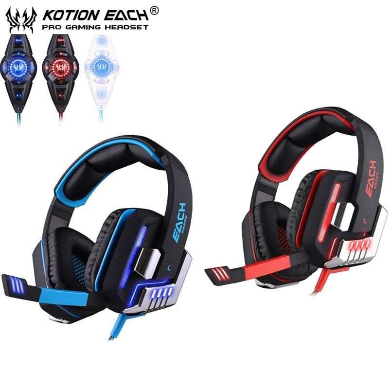 bilder für Each g8200 gaming kopfhörer 7,1 surround usb vibration spiel headset stirnband Kopfhörer mit Mic LED-Licht für Fone PC Gamer PS4