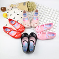 Mini Melissa 2017 Summer Lovely Jelly Shoes Baby Beach Sandals Melissa Princess Shoes Button Shoes Soft Plastic High Quality