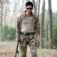 Combat shirt hunting clothing Army multicam pants With Knee Pads multicam uniforms Ghillie Tactical Hiking Clothes for Women