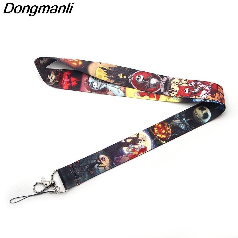 P2178 Dongmanli The Nightmare Before Christmas Lanyards Id Badge Holder ID Card Pass Gym Mobile Phone USB Badge Holder Hang Keys