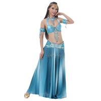 2018 Newest Discoloration Skirt Belly Dance Suits Belly Dance Costumes Oriental Belly Dance Stage Performance Sexy Women Clothes