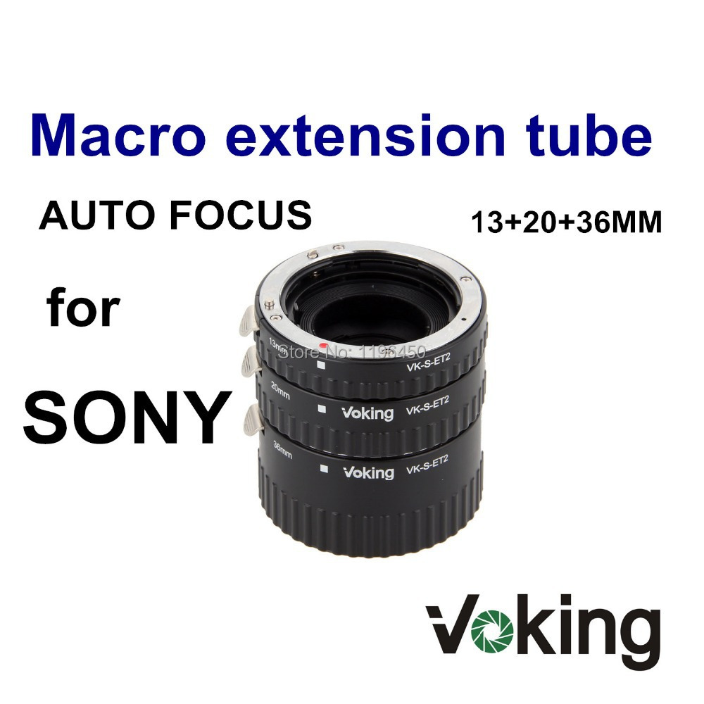 Voking Auto Focus Metal Macro Extension tube ring VK-S-ET2 for Sony A77 A200 A300 A350 A550 A500 A580 A850 A900 meike s af b auto focus macro extension tube ring set adapter for sony alpha a7 ii a580 a550 a350 a900 a77 a550 a300