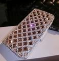 Bling do cristal de ouro luz slot para cartões de carteira de couro pu case capa para samsung galaxy s4 s5 s6 edge plus s7 borda para iphone 6 6 S
