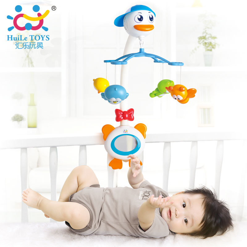ФОТО 2016 Baby Crib Musical Mobile Bell Music Box with Holder Arm Daytime and Evening Mode Baby Bed Hanging Rattle Toys Newborn Gift