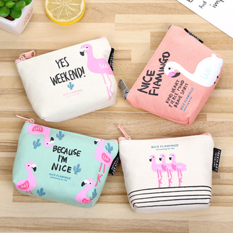 2017New flamingo Small Wallet Coin Bag Leisure PackageJewelry Small Objects Storage SUPER QUALITY