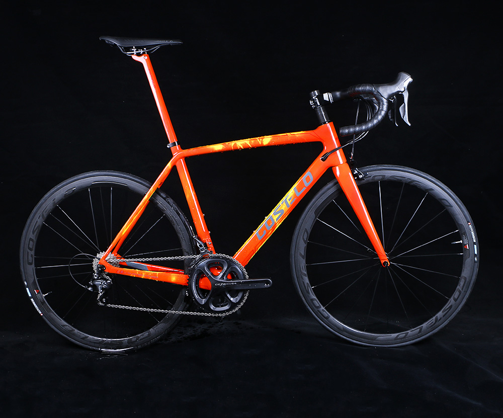 2018 Costelo Carbon fiber Road bike frame torch thermochromic carbon bicycle frame color change 48 50 52 54 56 free shipping