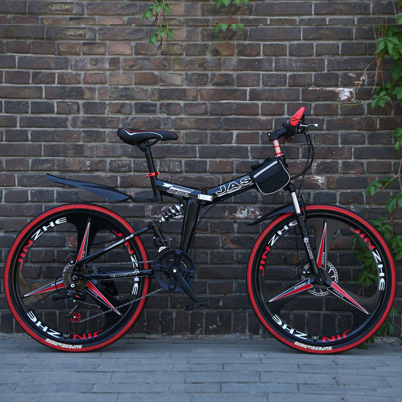 26inch Folding Mountain Bike 21 Speed Mountain Bicycle Double Disc Brake Bike New Folding Mountain Bicycle Suitable For Adults