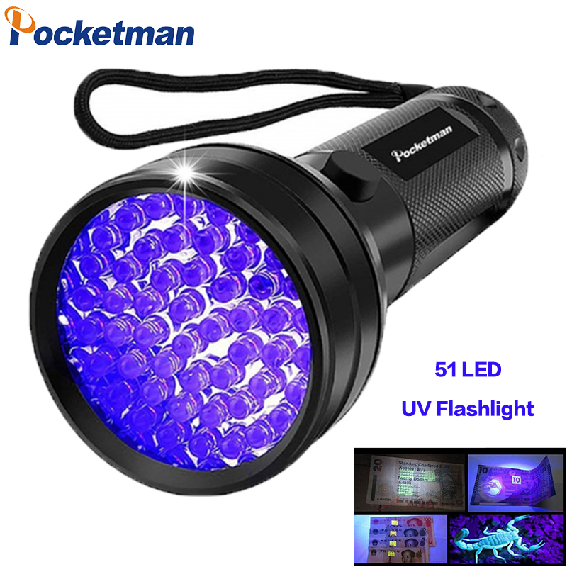 <font><b>UV</b></font> Flashlight Black Light, 9 12 21 51 LED <font><b>395</b></font> <font><b>nM</b></font> Ultraviolet Torch Blacklight Detector for Dog Urine, Pet Stains and Bed Bug z50 image