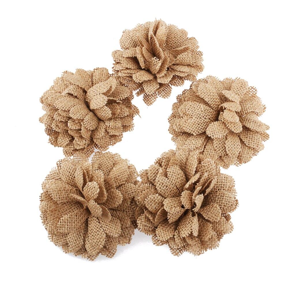 Aliexpress buy 5pcs hessian burlap daisy flowers for christmas aeproduct izmirmasajfo