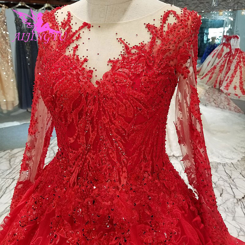 AIJINGYU Wedding Dress Lebanon Gorgeous Gowns Sell Luxury Lace White Corset 2019 Vintage Boho Gown Clearance Wedding DressesWedding Dresses   -