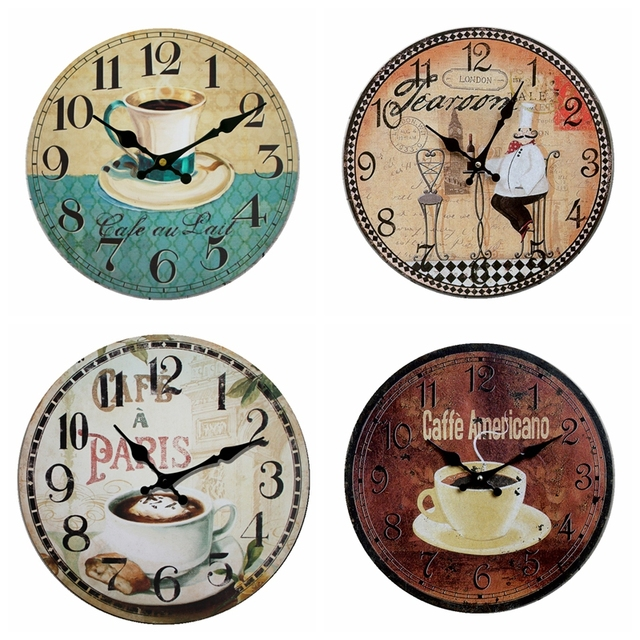 Genial European Kitchen Coffee Shop Dessert Bakery Restaurant Wood Clock, Quality  Character Cook Clock