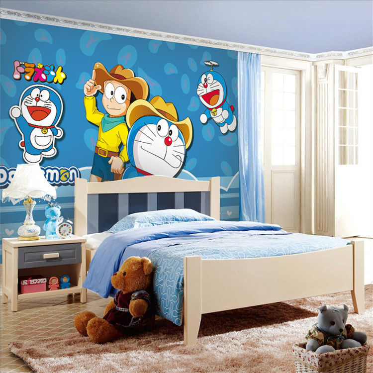 Us 2698 Anime Jepang Doraemon Dinding Mural Wallpaper Kartun Foto Wallpaper Sutra Besar Dinding Seni Dekorasi Ruang Langit Langit Kamar Tidur Anak