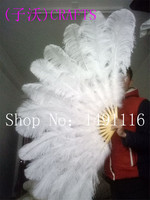 new! Quality ostrich feather fan, DIY holiday party, stage performance, home decoration as shown in Figure 13 fan bone