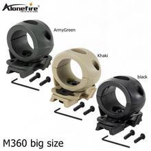 AloneFire M360 большой размер держатель тактического фонаря зажим для шлема рельсы один зажим стойки адаптер держатель для фонарь Клип