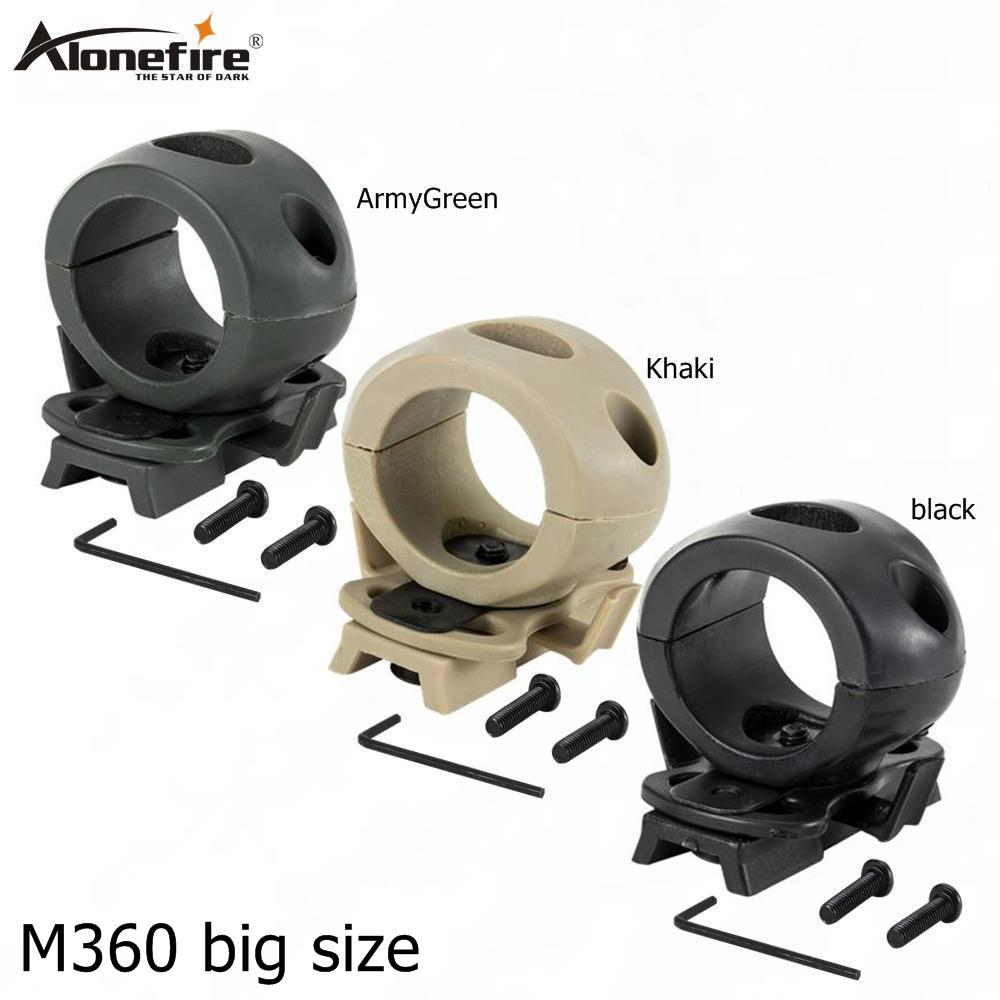 AloneFire M360 Big Size Tactical Flashlight Mount Clip For Helmet Rails Single Clamp Rack Adaptor Mount Holder For Torch Clip