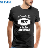 Custom T Shirts Online Short O Neck Made In Are Born In December 1977 Funny 40Th