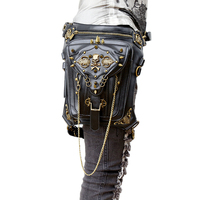 Fashion Gothic Steampunk Skull Retro Rock Bag Men Women Waist Bag Shoulder Bag Phone Case Holder