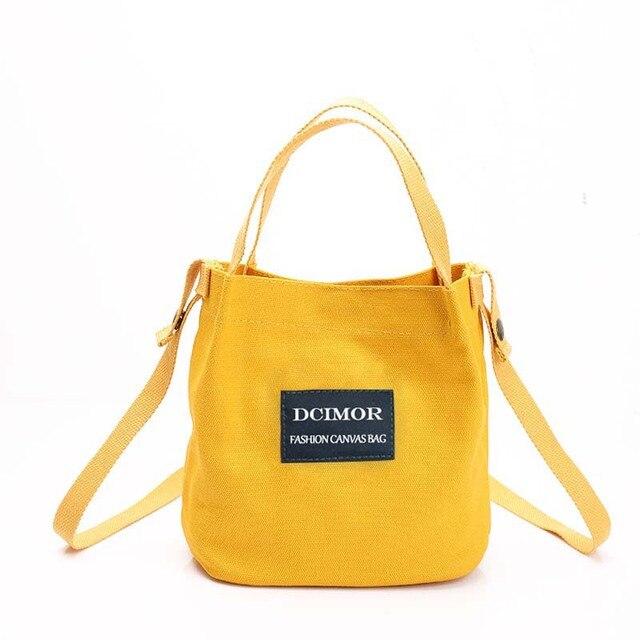 fbcf48256b71 DCIMOR Lady Canvas Handbag Mini single shoulder bag Crossbody ...