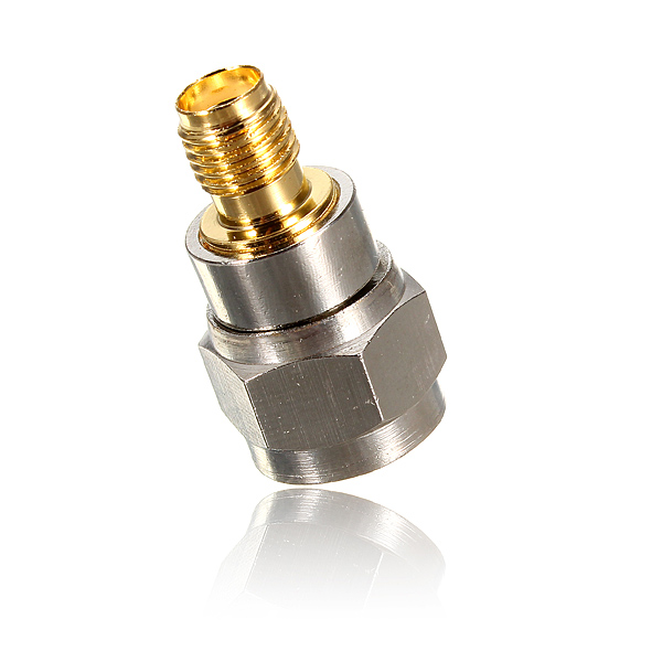 New Alloy Steel F Type Male Plug To SMA Female Jack Straight RF Coaxial Adapter Connector 1pc adapter n plug male nickel plating to sma female gold plating jack rf connector straight