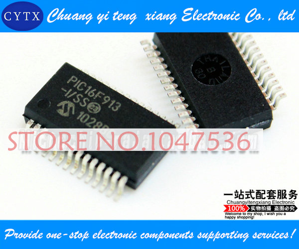 PIC16F913-I/SS SSOP28 integrated circuit IC Single chip Best selling 5pcs/lot