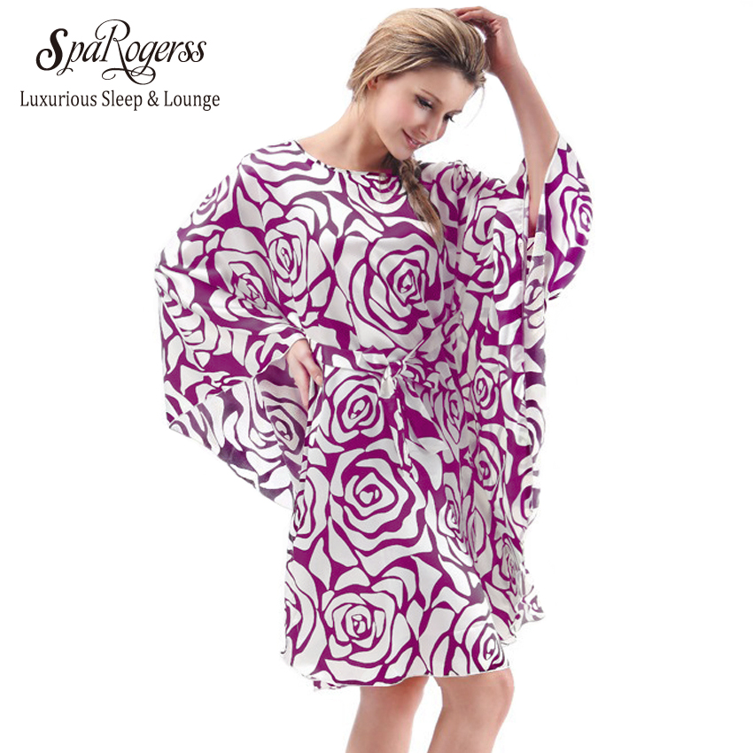 SpaRogerss Plus Size 6XL Female   Nightgowns   2018 Ladies   Sleepshirts   Robe Mothers Fashion Batwing Women Casual Home Robes MP7795