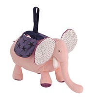30cm Baby Plush Music Bell Elephant Stuffed Doll Pull Bed Hanging Voice Toys Cute Music Box