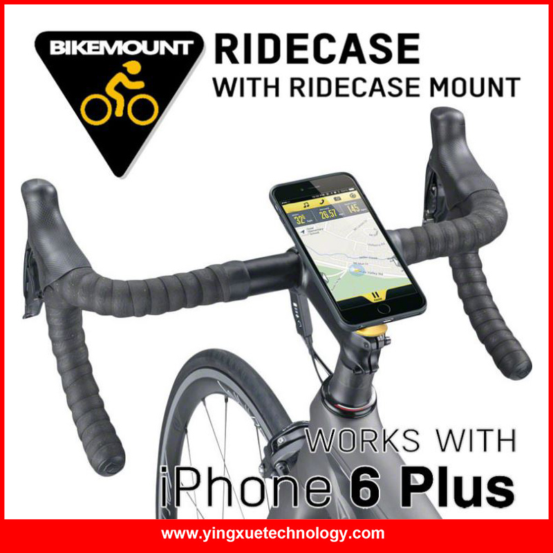 Galleria fotografica Bike Phone Mount Holder Bicycle Smartphone Holder Case Stem Cap Mount Holder with ClipGrip Case for iPhone 6/6 Plus