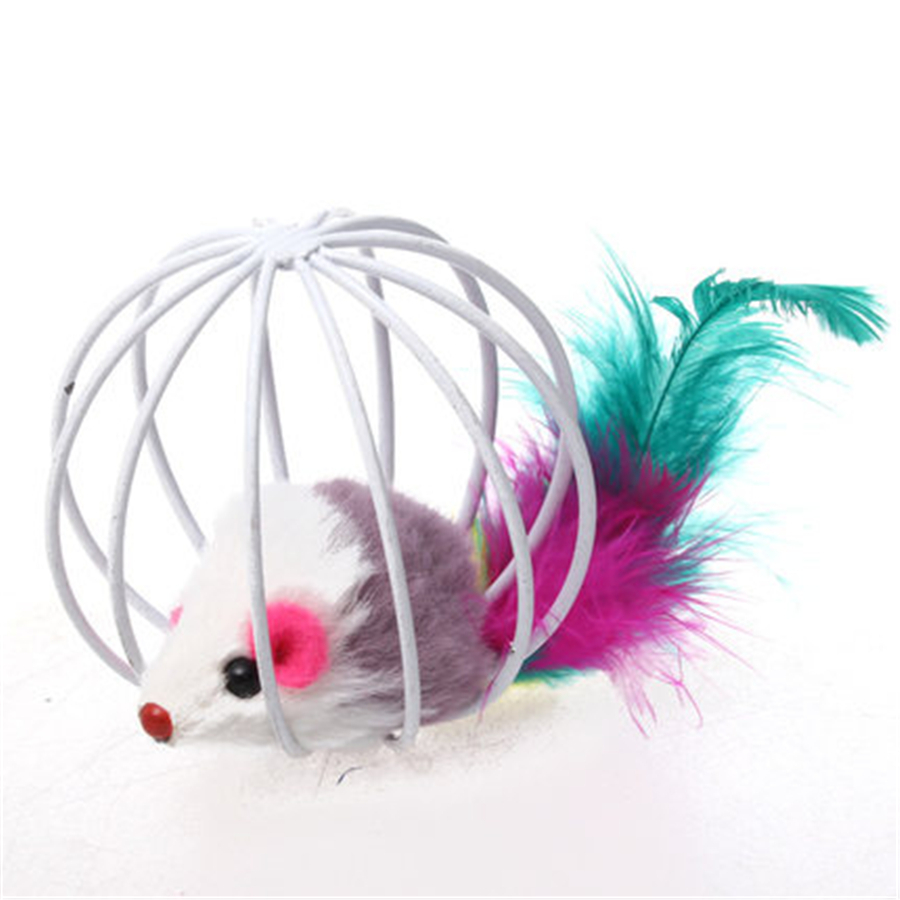 False Mouse Trap Cage Cats Toy Pet Interactive Products Kitten Play Pets Shop Game Gatos Fun Cats Toys False Mouse Cute QQM2128
