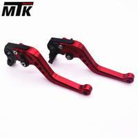 MTKRACING CNC Aluminum Brake Clutch Levers Set Short Adjustable Lever For KTM 390 Duke RC390 200