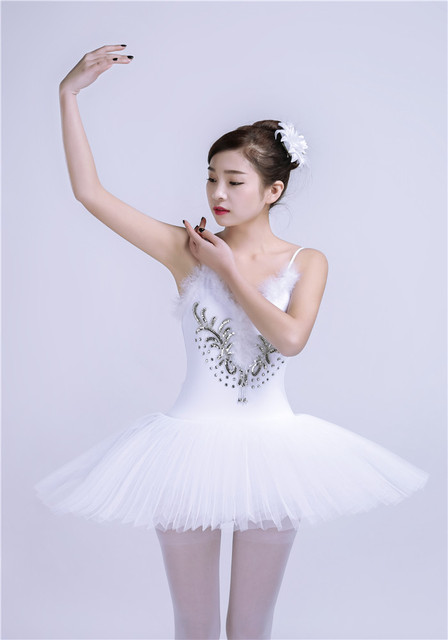 c3d345fc1 6 Layers Professional Classical Ballet Tutu Dance Dress Girls White ...