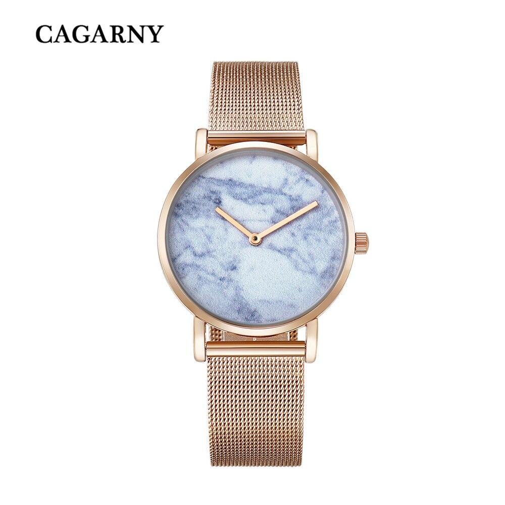 rose gold watch for women luxury brand cagarny womens quartz watches girl watch drop shipping (10)