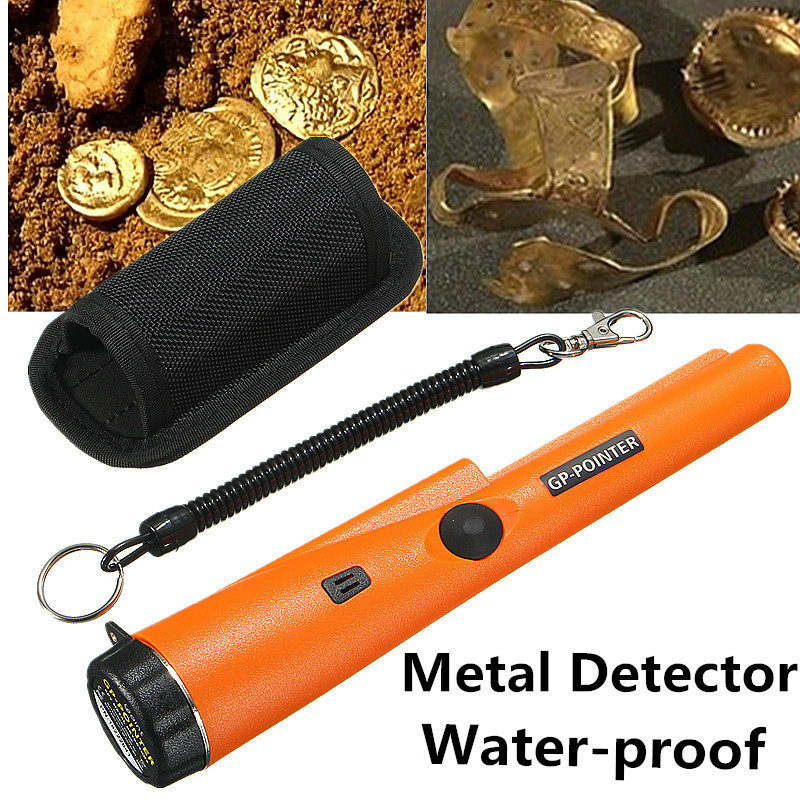 Underground Metal Detector with LED Light 360 degree Detection Handheld GP Pointer Waterproof Automatic Pointer Pinpointer portable handheld metal detector high sensitive mini gp pointer pinpointer with led flashlight and bracelet