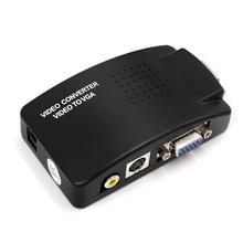 AV a VGA adapter switch box PC del computer portatile Video Composito AV S Video RCA per PC Del Computer Portatile VGA TV convertitore