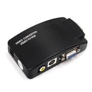 Image 1 - Adaptador av para vga, caixa de interruptor, adaptador de pc laptop, composto, vídeo av s video rca para pc, laptop, vga tv conversor