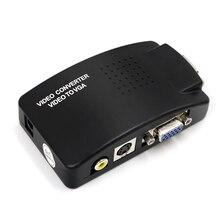 Adaptador de vídeo compuesto AV a VGA para ordenador portátil, convertidor de TV, RCA, PC, ordenador portátil