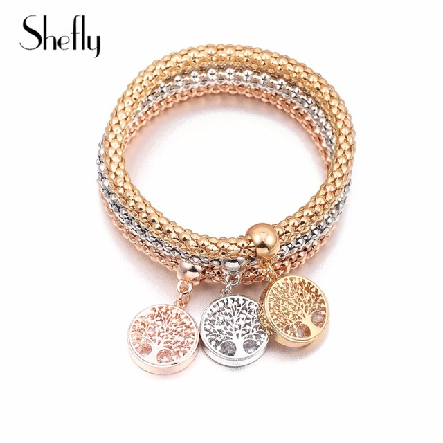 3c609a9babb2a US $3.83 42% OFF|Wishing Tree Of Life Bracelets Rose Gold Elastic Hollow  Crystal Round Charms Bracelet For Women Gift Jewelry Hip Hop 2019 New-in ...