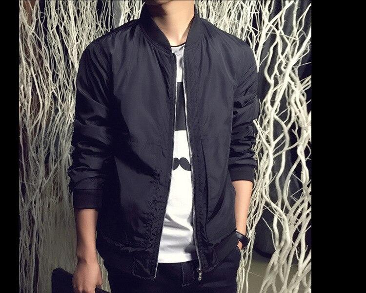 2da6bb2a01ea5 Mwxsd 2019 Fashion Pria Musim Semi Slim Fit Jaket Tipis Pria Solid Jaket  Bomber Jaket Hombres Chaqueta Jaqueta M 4xl di Jaket dari Pakaian Pria ...