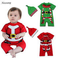Niosung Newborn Infant Baby Boy Girl Romper Jumpsuit Outfit Clothes Hat Outfits Set Kids Children Christmas