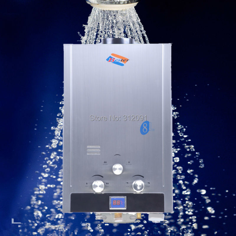 Germany Shipping ) 8L Natural Gas Instant Tankless Household Gas ...