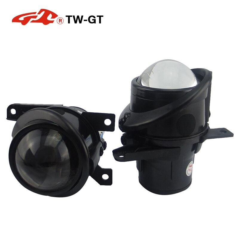 TW GT стайлинга автомобилей 2,5 дюйма скрытый набор би ксенон противотуманные лампы проектора объектив foglight H11 лампы предназначены для Volkswagen