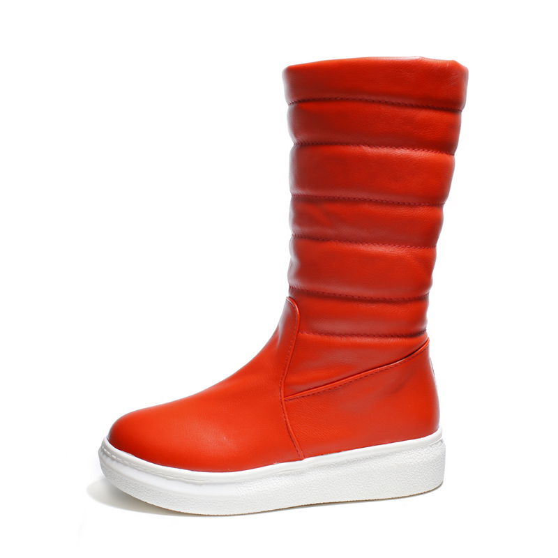 Bout Hiver Femme Orange blanc Dame Sb1177 Blanc Mode Rond orange Plus Slip Neige Femmes Taille Chaussures sur 43 S Noir Noir Romance 34 La Bottes AawnzZq