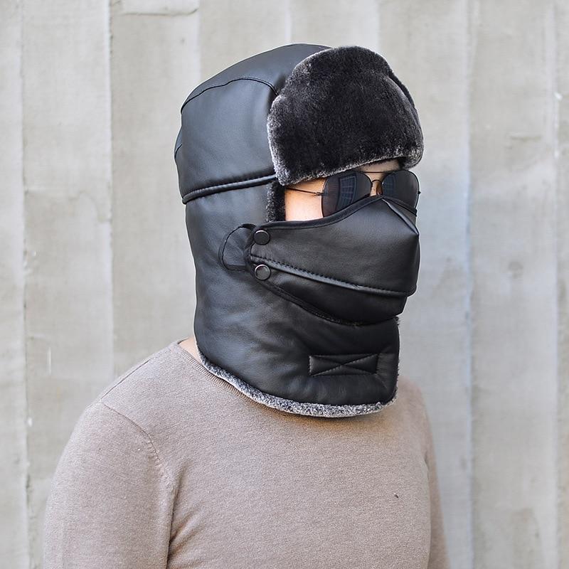 Unisex Winter Trapper Hat Detachable Face Mask Windproof Waterproof Warm  Ushanka Hunting Hat for Men Women-in Skullies   Beanies from Apparel  Accessories on ... ed80b395ed3