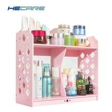 HECARE New Bathroom Shelves Plastic Kitchen Organizer Shelf PVC Double Storage Holders and Racks Waterproof Bathroom Shelf Rack