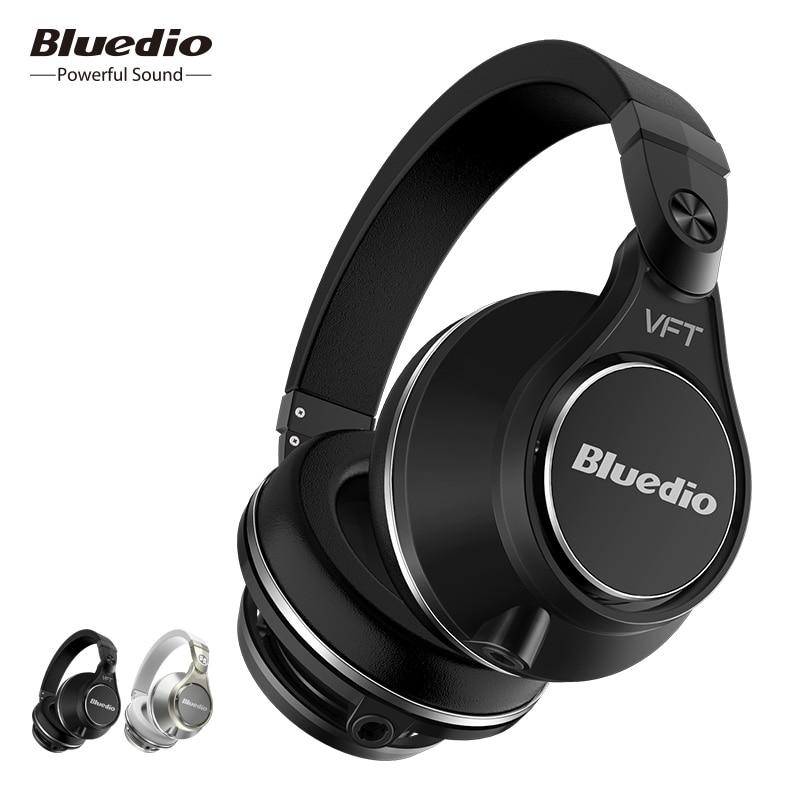 Bluedio UFO Plus Earphone High End Bluetooth Headphones PPS12 Drivers Headband With Microphone Music Wireless Headset