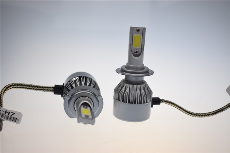 2 Bulbs 12v Led Lights H7 Head Light 6000k Fanless Head Lamp Bulb For Sale Auto Fog Light Xenon
