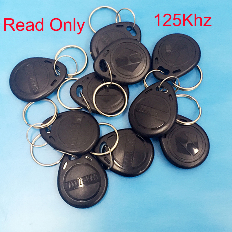 10 pcs 125khz keyfobs card Black TK4100 Chip Keycard Read only Access key-chain Card for Access Control key only winfeng 500pcs lot custom printing irregular pvc die cut combo key chain card 3 parts combo card easy snap off key card